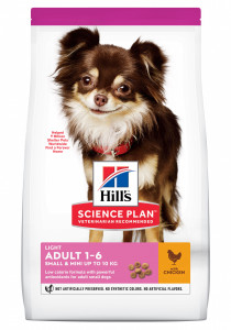 CANINE LIGHT SMALL POULET HILL'S 1.5 KG