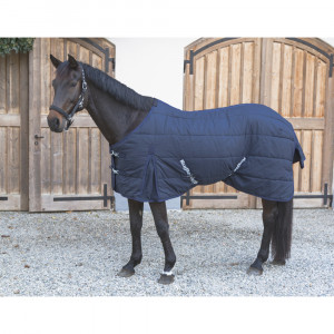 Couverture chevaux RugBe Indoor, bleue, 145 cm